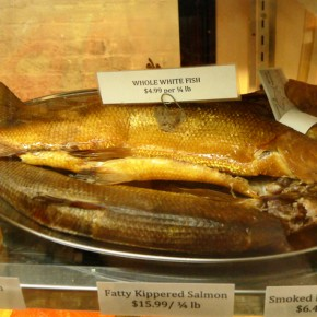 Fresh Catch: Shelsky's proudly displays a whole smoked whitefish