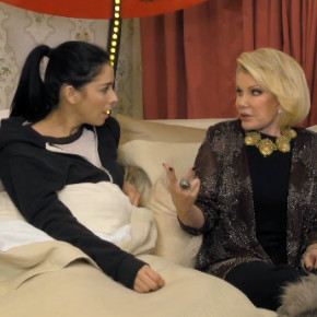 Sarah Silverman Gets In Bed With Joan Rivers