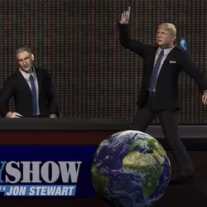 The Jon Stewart/Donald Trump Feud: Taiwanese Animated Edition